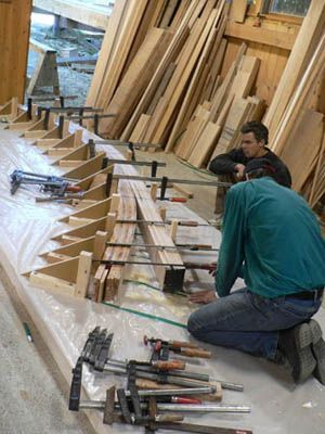 building a bent timberframe truss: | laminated beams in 2019
