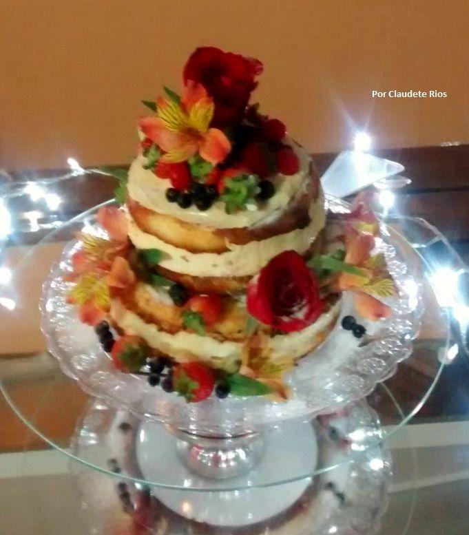 Naked Cake Primavera!!! Sucesso nas festas moderninhas...