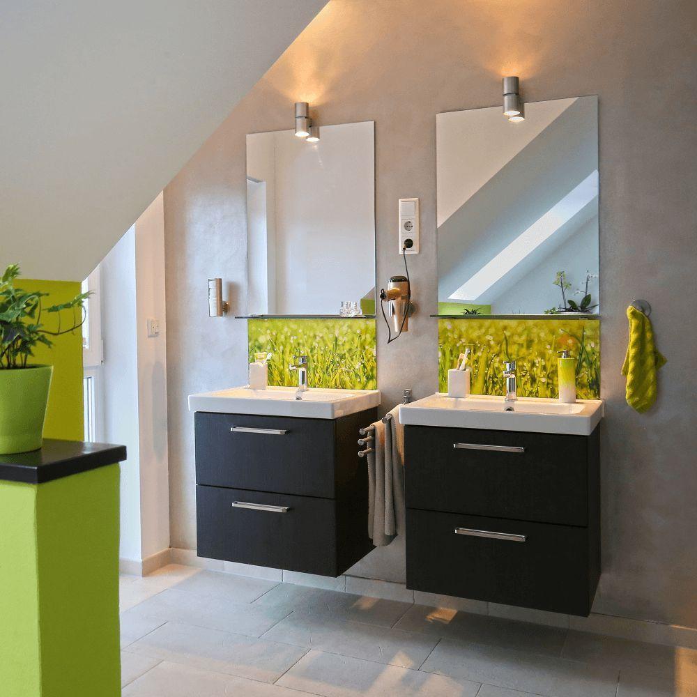 Badezimmer Deko Und Badmobel Acrylglas Druck Beispiel