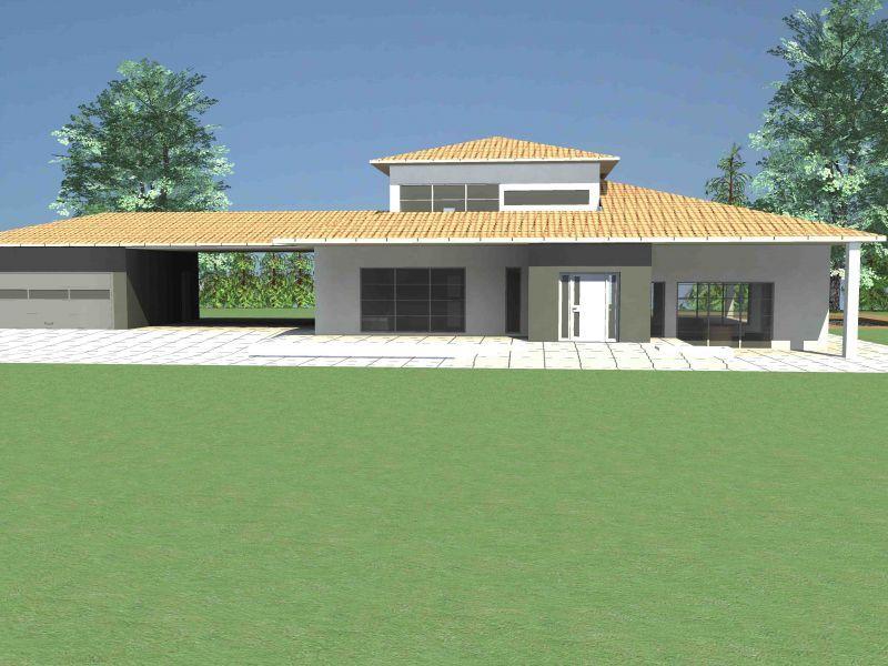 Plan Maison contemporaine Pyrénées-Orientales (66). Plan Villa ...