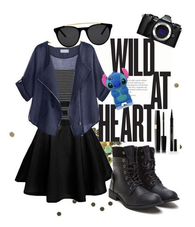 """WILD AT HEART"" by kalanilee ❤ liked on Polyvore featuring Topshop, Smoke & Mirrors, Olympus and Elizabeth Arden"