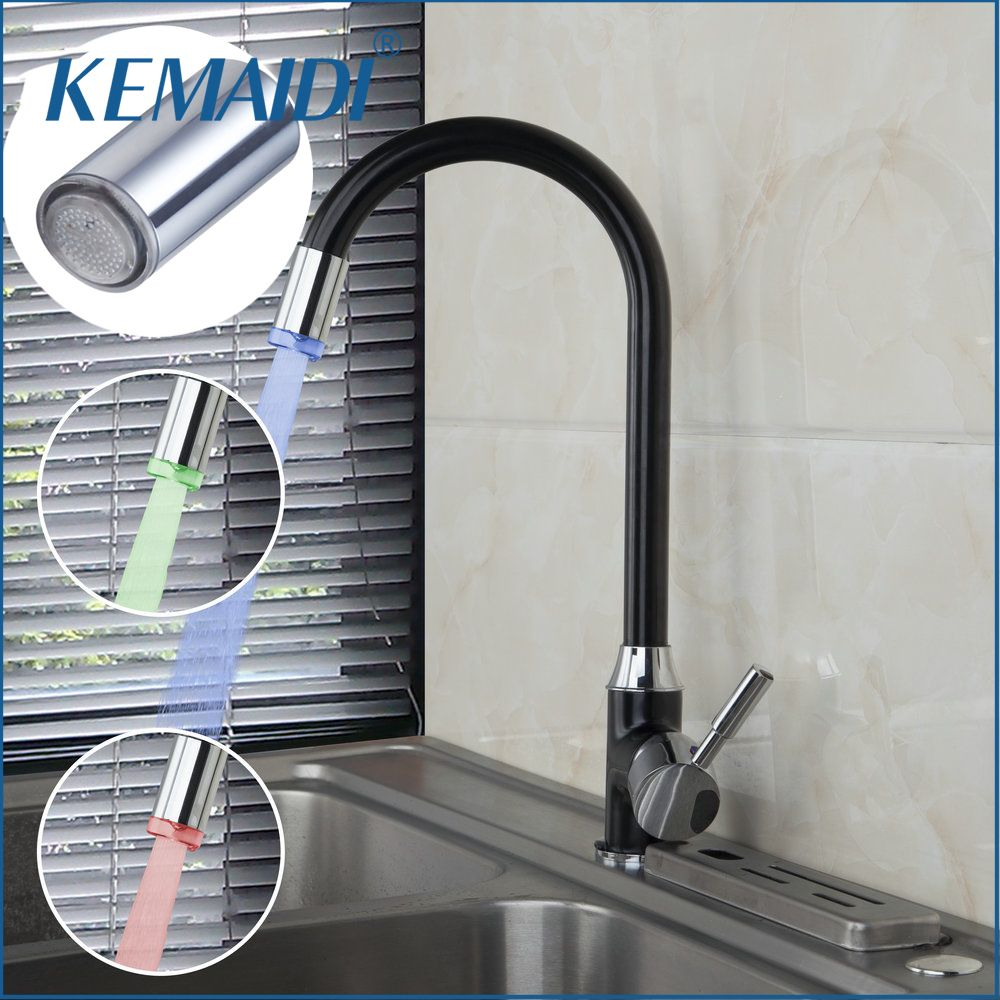 KEMAIDI Hight Quality Kitchen Faucets Mixer Head Changing Glow ...