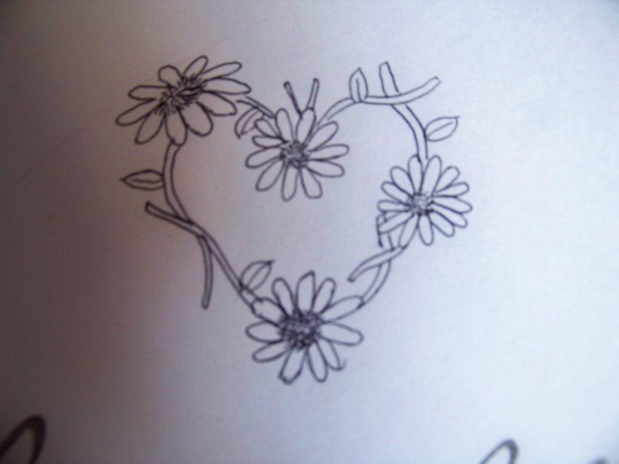 Daisy Chain Heart Tattoo