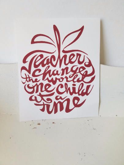 Teacher decalteacher appreciationappleapple decalinspireteachersdecals