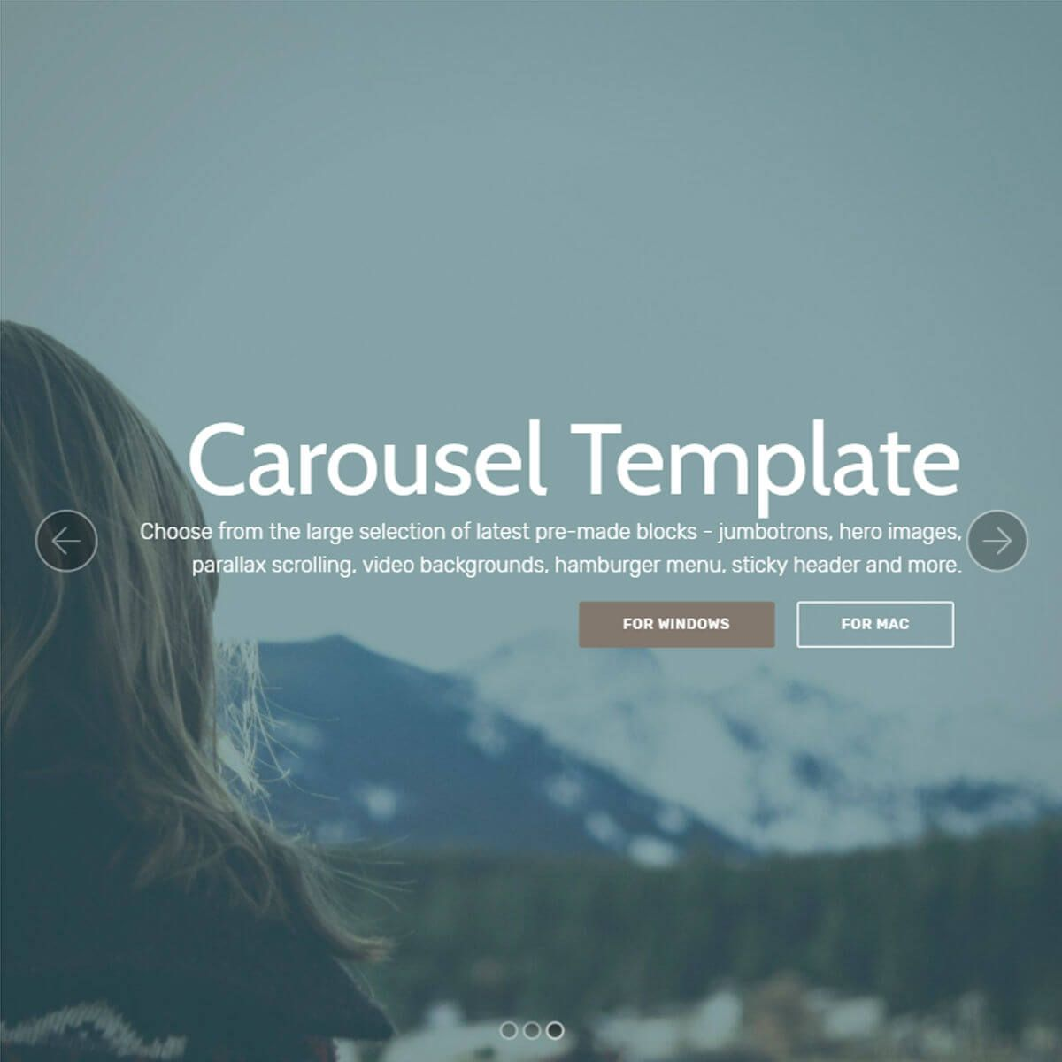 HTML Bootstrap Carousel Template