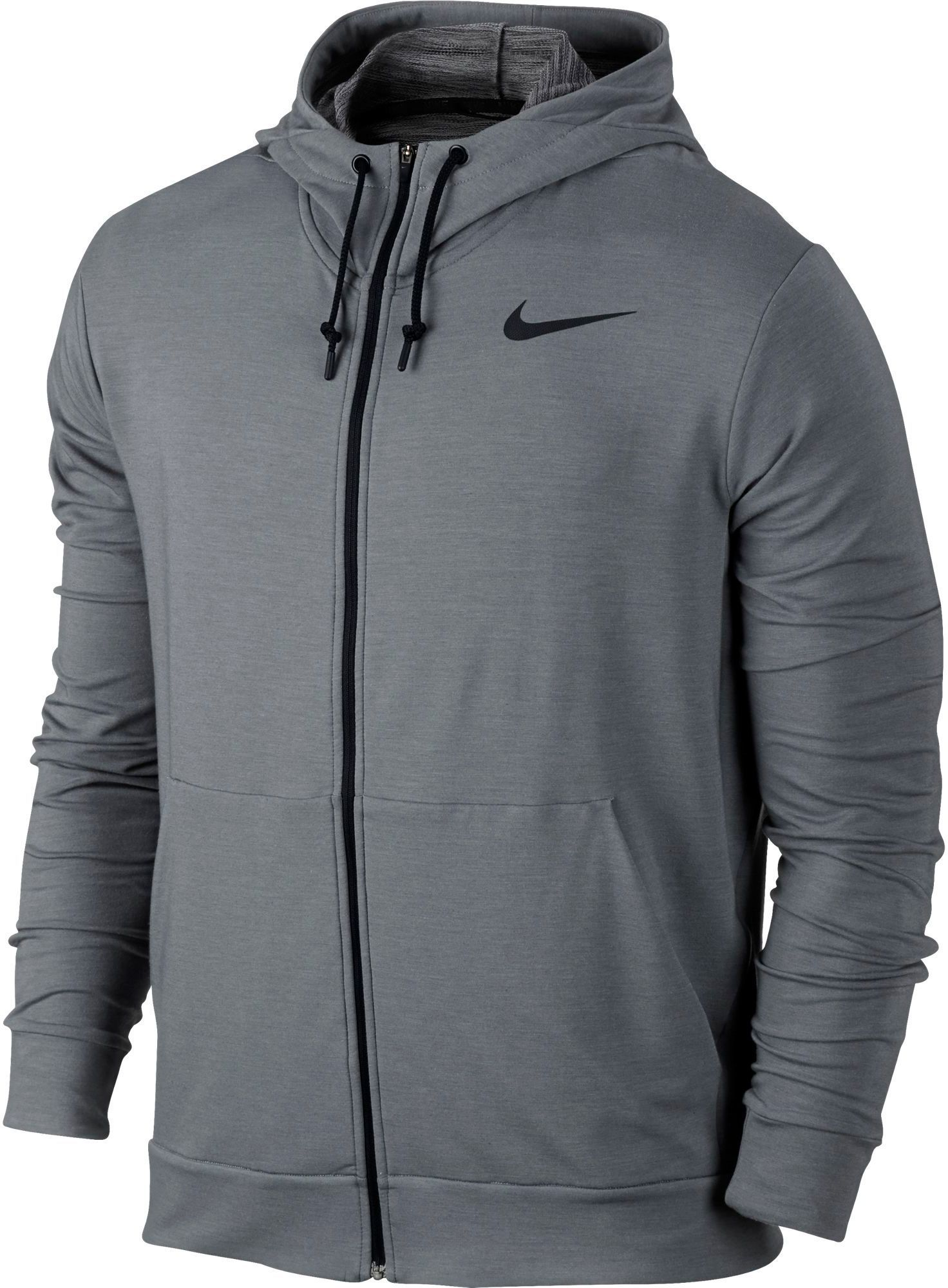 Nike Men s Dri-FIT Fleece Full Zip Hoodie, Size  Medium, Cool Grey ... 915f1f7862