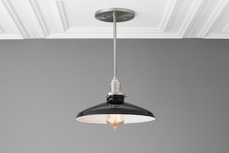 Black Ceiling Light Industrial Lighting Edison Light Kitchen