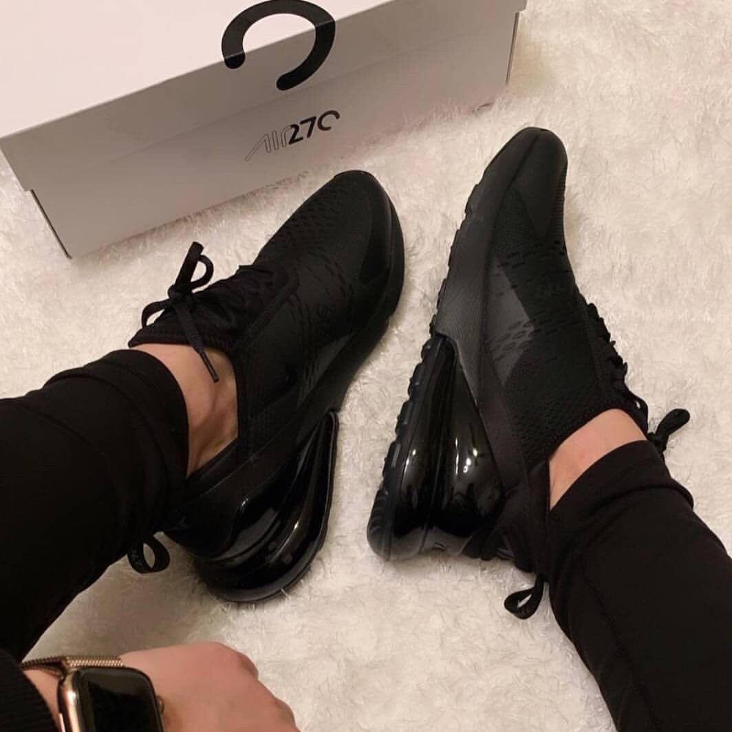 all black nike 270s