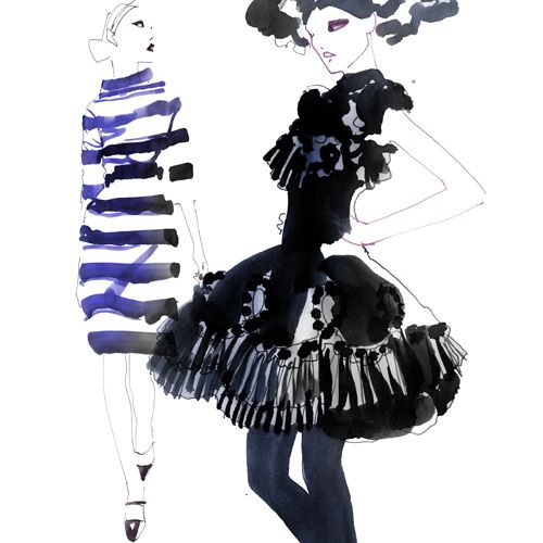 Fashion Illustration - by Sara Singh - monstylepin