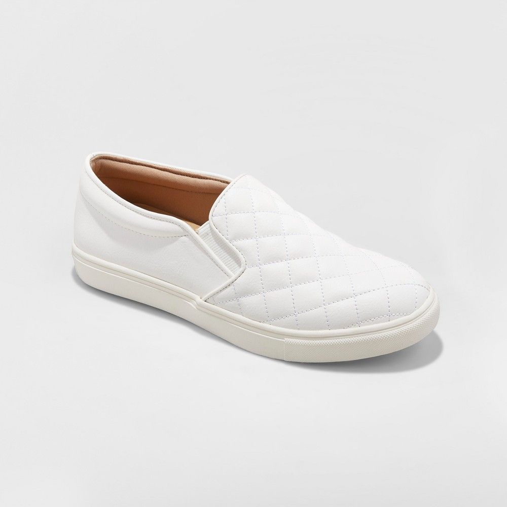 61f91a63603b Change up your style and swap out your usual slide sandals for the Reese  Quilted Sneakers from A New Day. With a crosshatch quilted pattern  decorating the ...