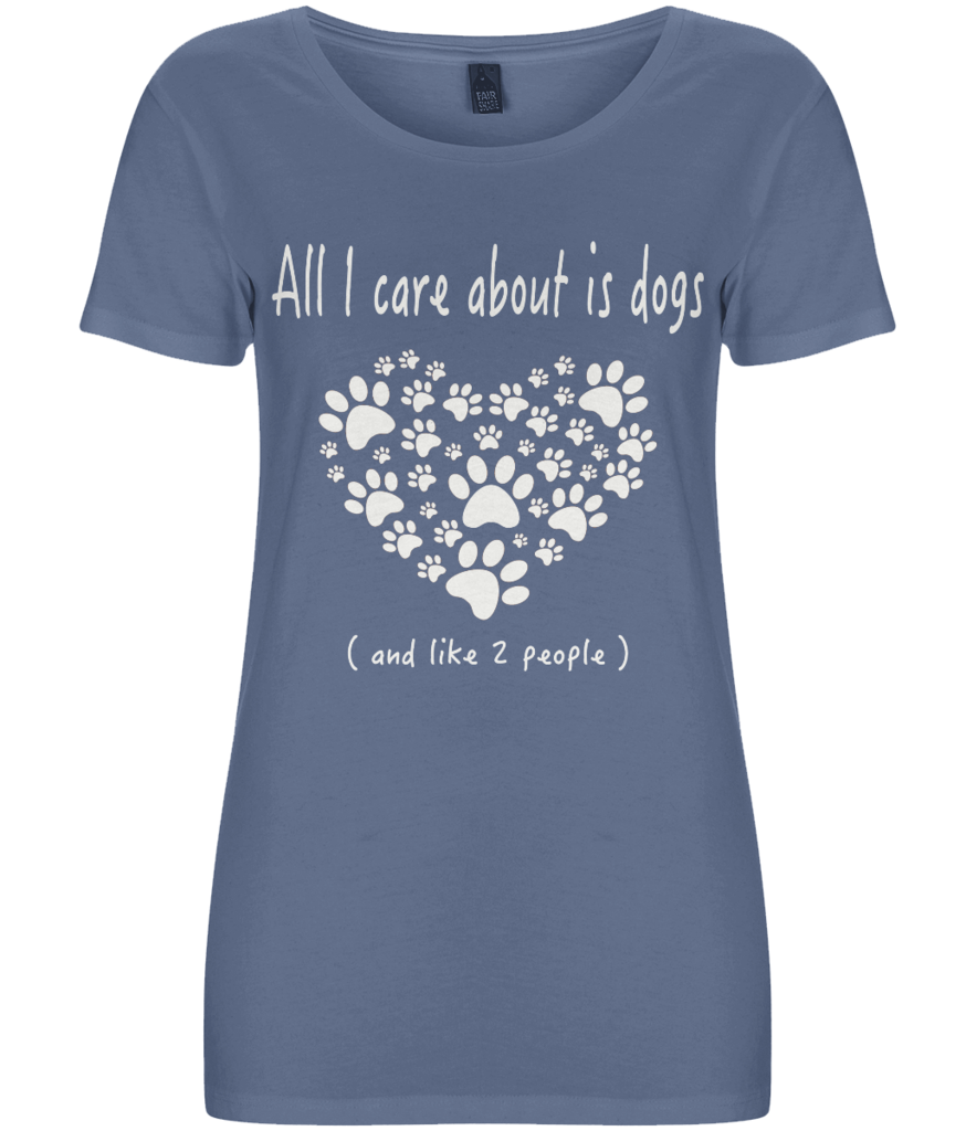 All i care about is dogs - Women's Dark T-shirt