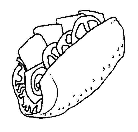 coloring pages images sandwiches - photo#7