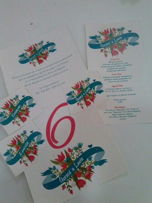 Invitaciones de #boda de aire vintage, de nuestra colección propia para 2013-2014, pronto muchas más