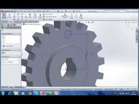 5401001620108 SolidWorks HW05 เฟือง - YouTube | Solidworks ...