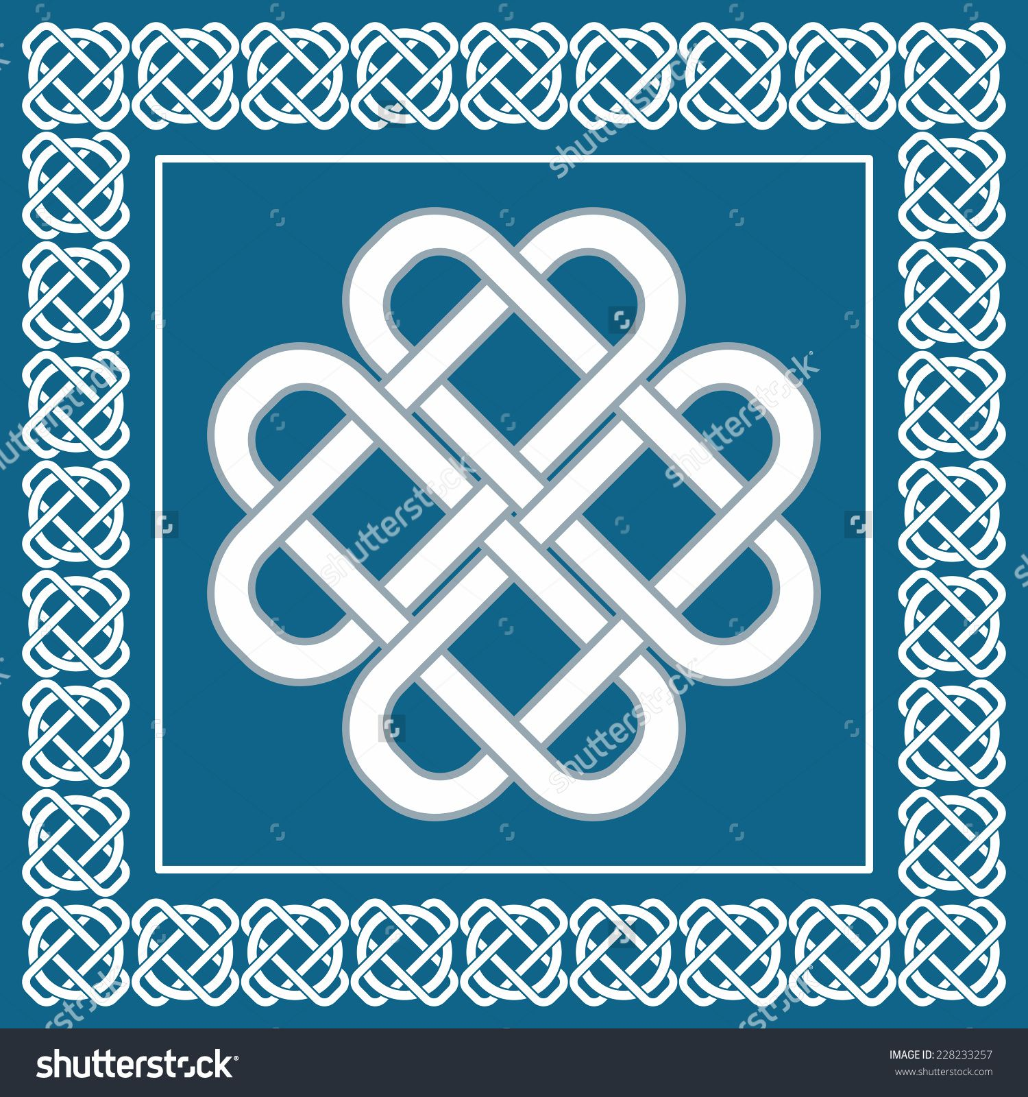 Stock Photo Celtic Love Knot Symbol Of Good Fortune Scandinavian