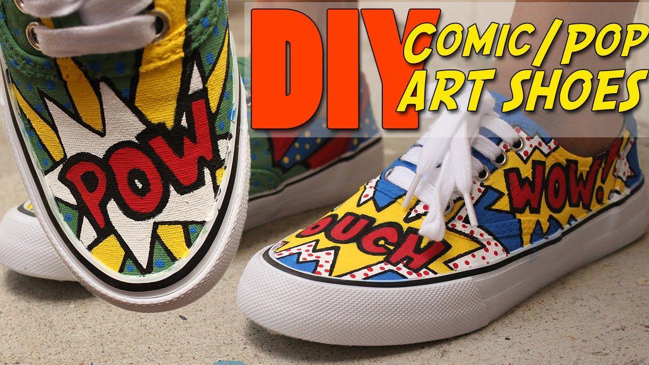 DIY Comic/Pop Art Shoes   vouchalize