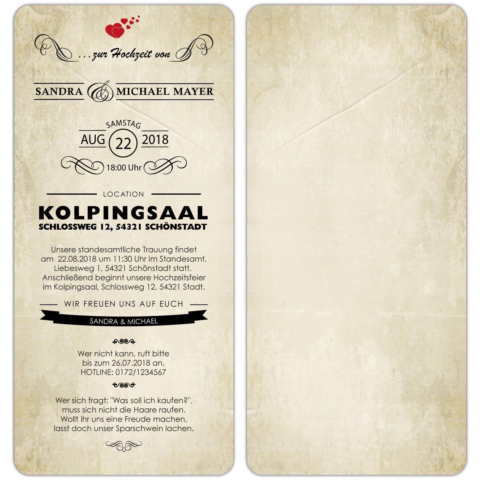 Einladungskarten Hochzeit Text Beispiel