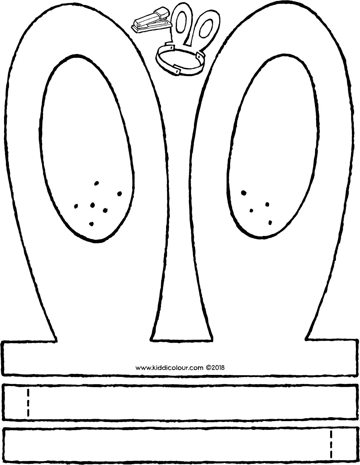 oren de paashaas paashaas knutselen pasen kleurplaten