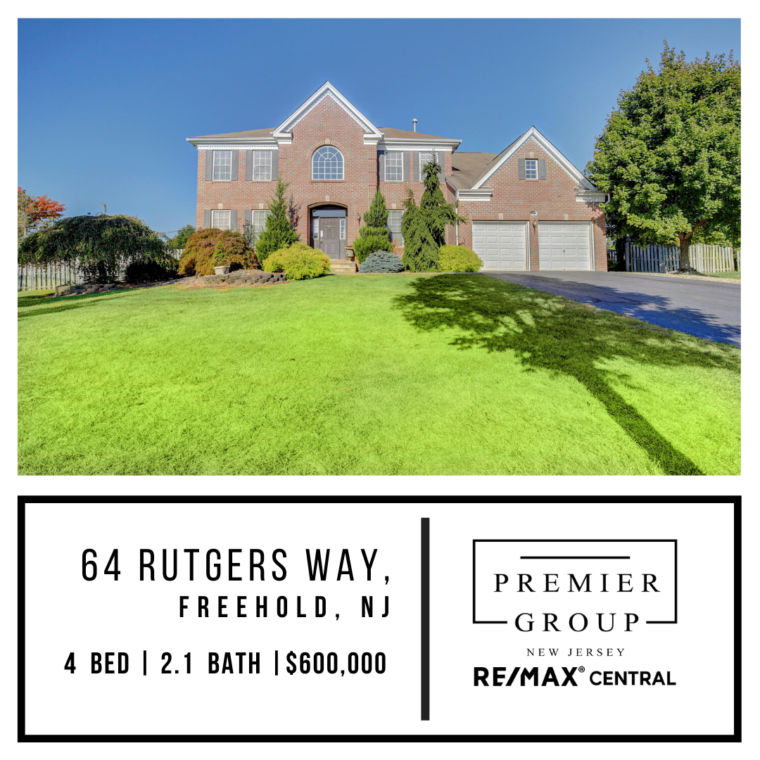 Welcome Home To This Prestigious Part Of Freehold This Spectacular Colonial Home Features Beautiful 2 Story Foyer Leadin Freehold Colonial House 2 Story Foyer