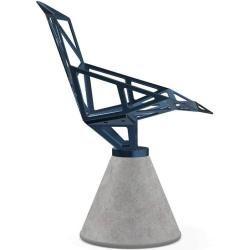 Magis Chair One Stuhl Beton drehbar grau grau Magis