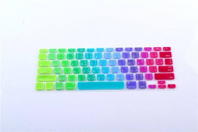 One/_Color for Keyboard Cover 13 15 Rainbow Laptop Keyboard Stickers and Silicone Skin Protector Version Covers