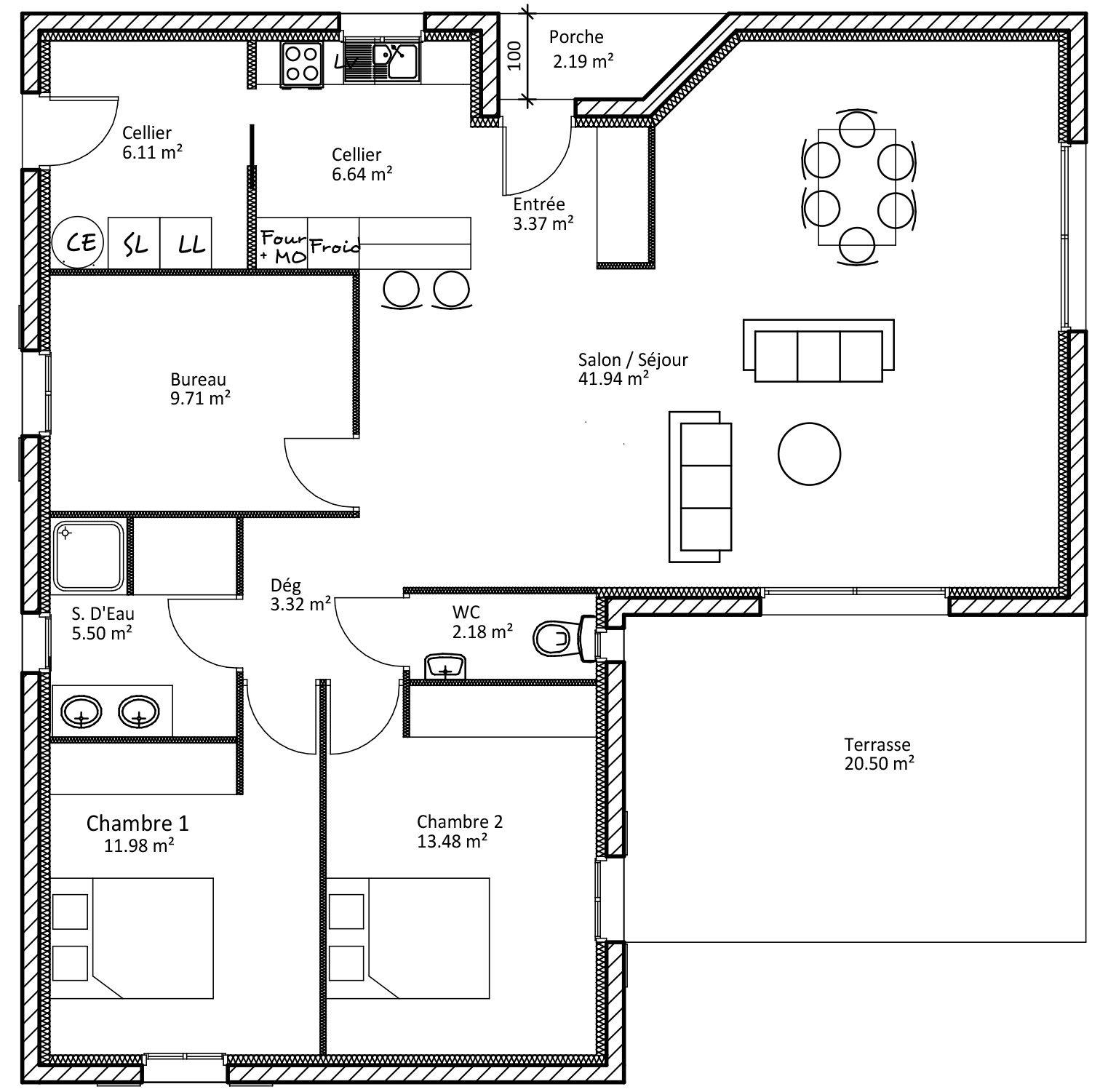 Plan D Une Maison En L Plan Maison Plan Maison Moderne Construction Maison
