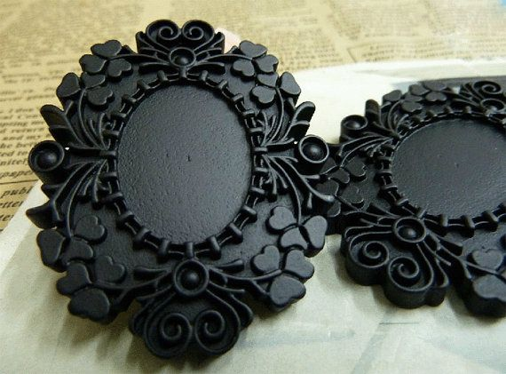 5pcs of Victoria Style  Resin Cameo base for 18x25mm by ministore, $3.95