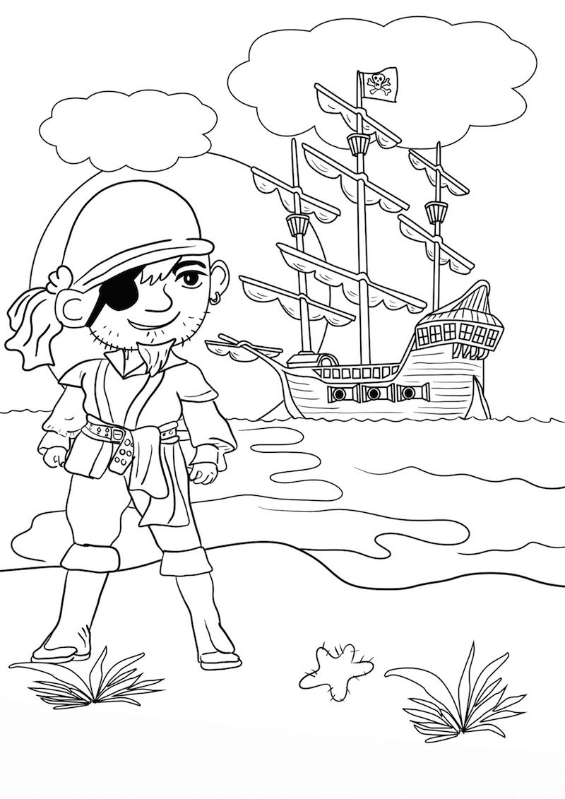 Https Www Topkleurplaat Nl Wp Content Uploads 2018 10 Kleurplaat Piraten 01 Jpg Piraten Kleurplaten Ridders