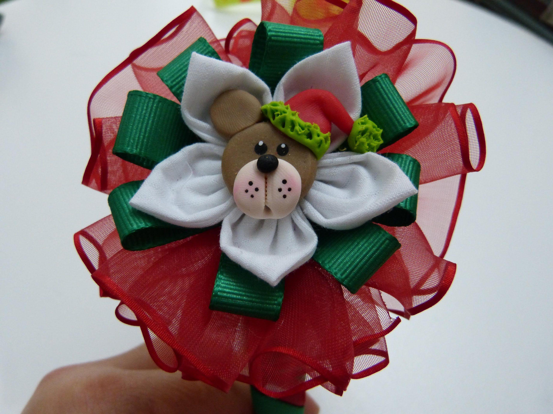 Diademas navide as forradas facilmente y decoradas con for Diademas de tela para el cabello