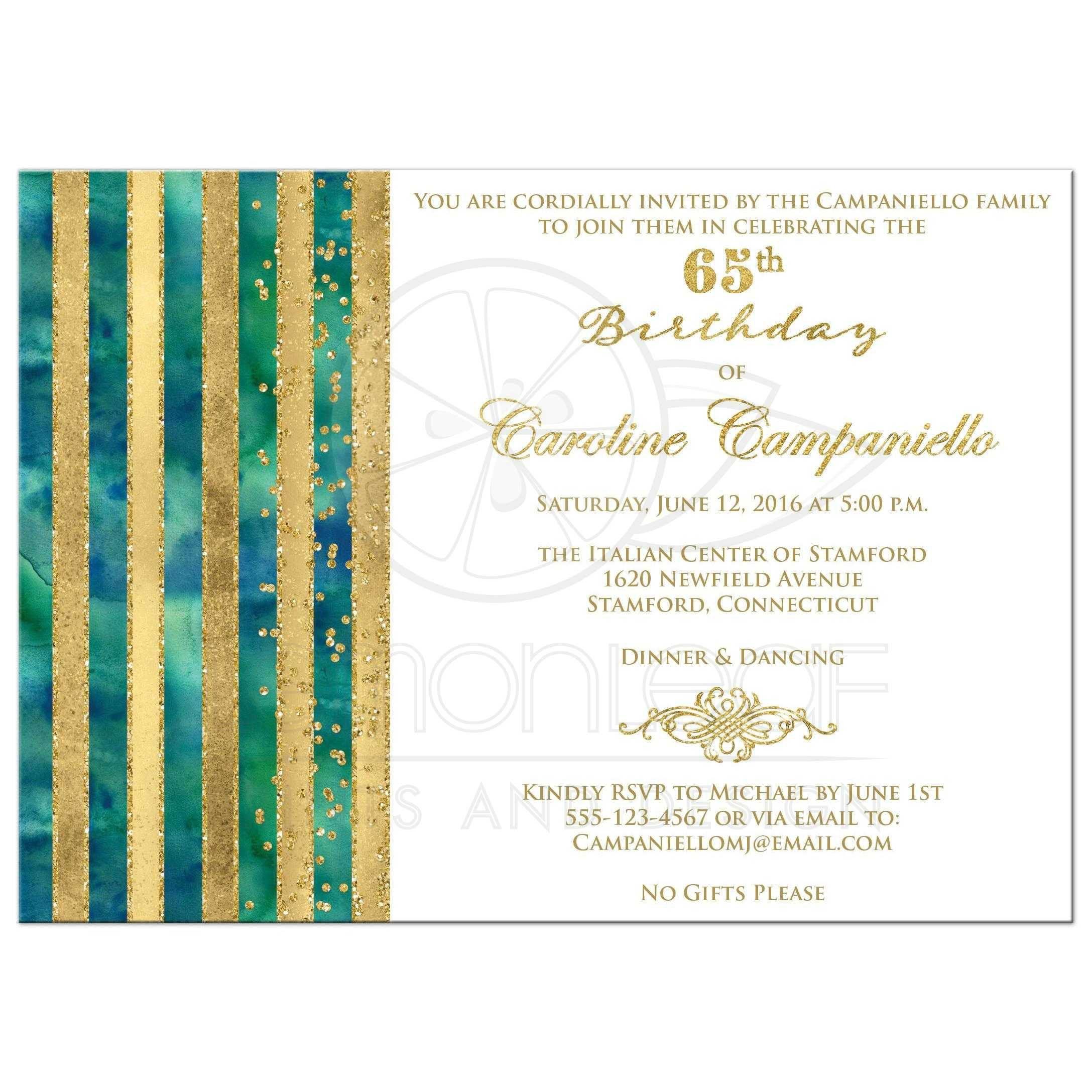 Einladungskarten Einladung 65 Geburtstag Einladung Insparadies