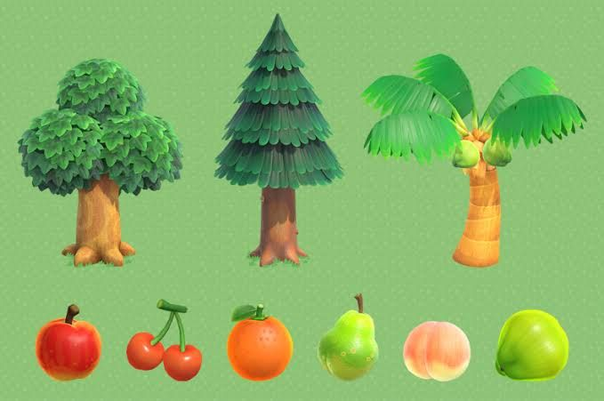 Trees Fruits Animal Crossing New Horizons Animal Crossing Characters Animal Crossing Animal Crossing Funny