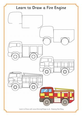 Learn to draw a fire engine