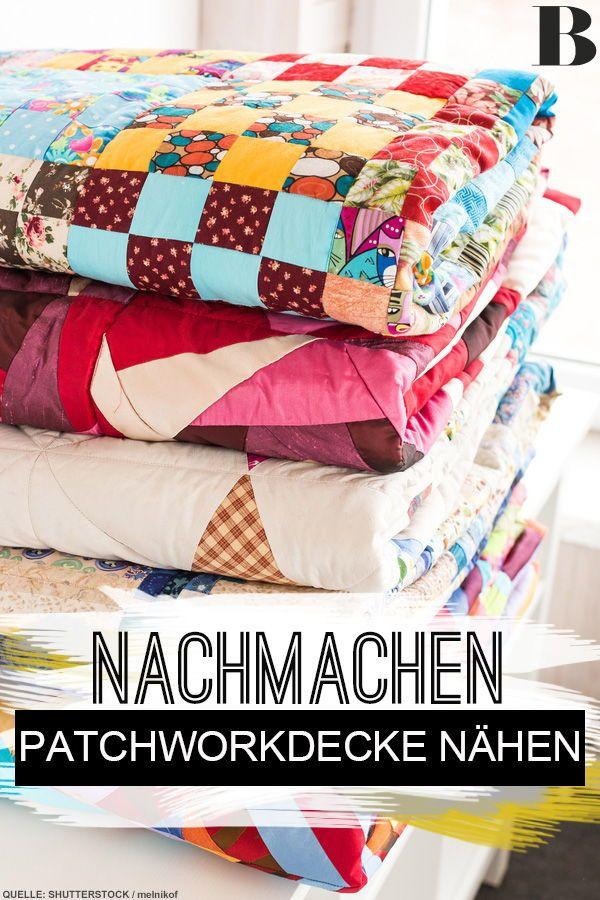 Patchworkdecke nähen: Anleitung zum Nachmachen