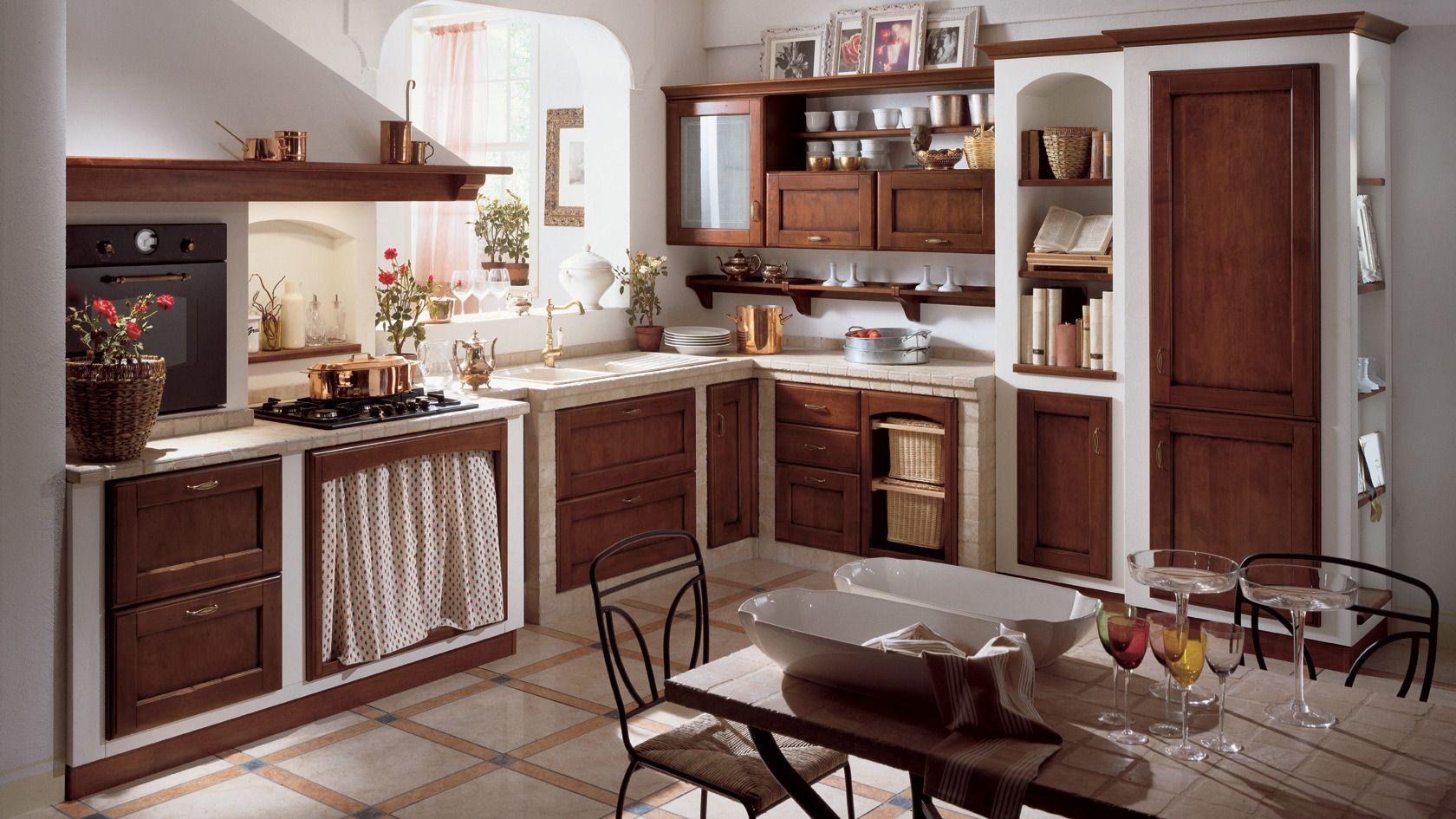 Cucine In Muratura Moderne Scavolini.Cucina Cora Scavolini Cucine Cucina In Muratura E Cucine