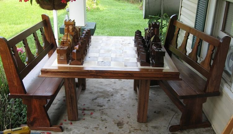 Chess Table handmade on etsy hand carved chess sets chess boards custom themed chess pieces & Chess Table handmade on etsy hand carved chess sets chess boards ...