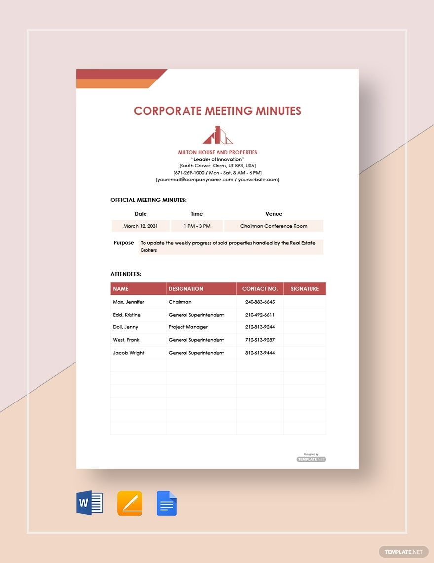 Free Minuets Of Meeting Colonarsd7 Throughout Committee Safety Committee Meeting Agenda Temp Meeting Agenda Template Agenda Template Meeting Notes Template