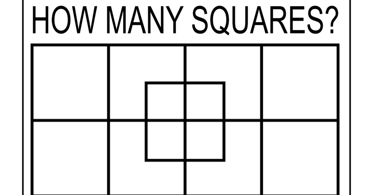 How Many Squares PDF | Ideas for the Classroom | Maths