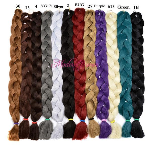 Jumbo Braids Hair Braids Chorliss Ez Braids Hair Bundles Kanekalon Synthetic Hair Extension Ombre Braiding Hair Jumbo Braids Crochet Braids Blonde Grey Matching In Colour
