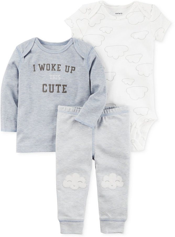 dfc1eae91 I love this little boy pajamas set! I woke up this cute!  ) Carter s ...