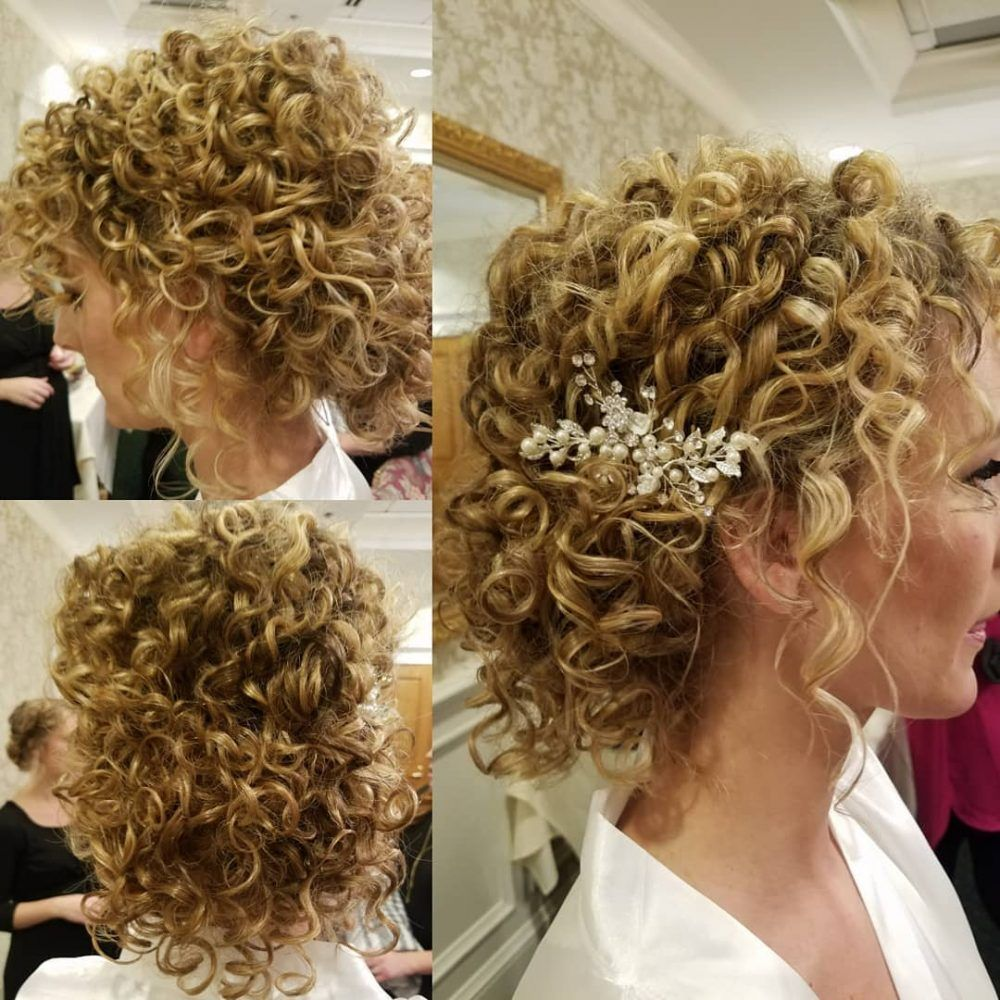 Wedding Hairstyle For Natural Curly Hair: 26 Curly Updos For Curly Hair (See These Cute Ideas For