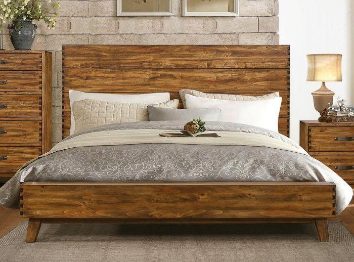 1927k 1ck Rustic All Poplar Solid Wood California King Platform Bed