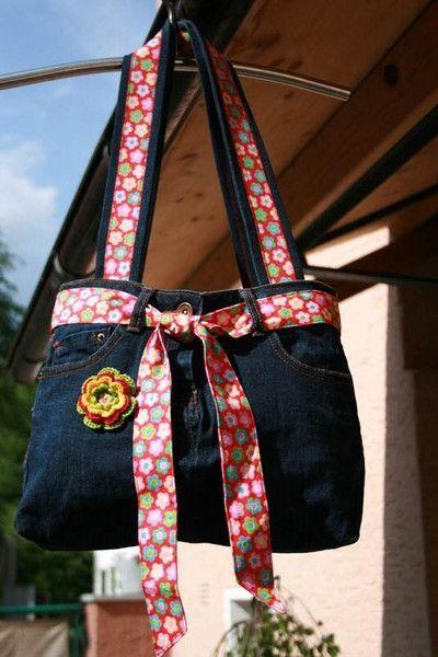Damentasche, Upcycling vom feinsten von Herzenssachen auf DaWanda.com