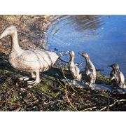 Metal Duck and Ducklings Garden Ornament|Sculpture from Candle and Blue £104.50