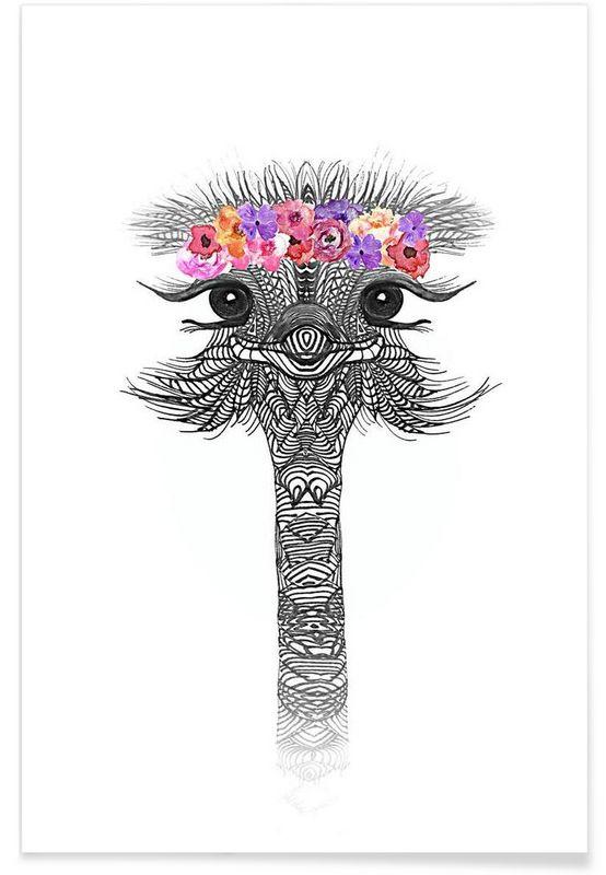 https://www.juniqe.de/flower-girl-ostrich-premium-poster-portrait-1097873.html