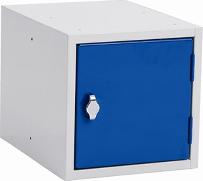 Storage box, 270x350x270, Padlock, Gray / Blue