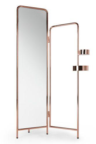 alana kleiderst nder mit spiegel in kupfer der spiegel l sst sich etwas nach vorne und hinten. Black Bedroom Furniture Sets. Home Design Ideas