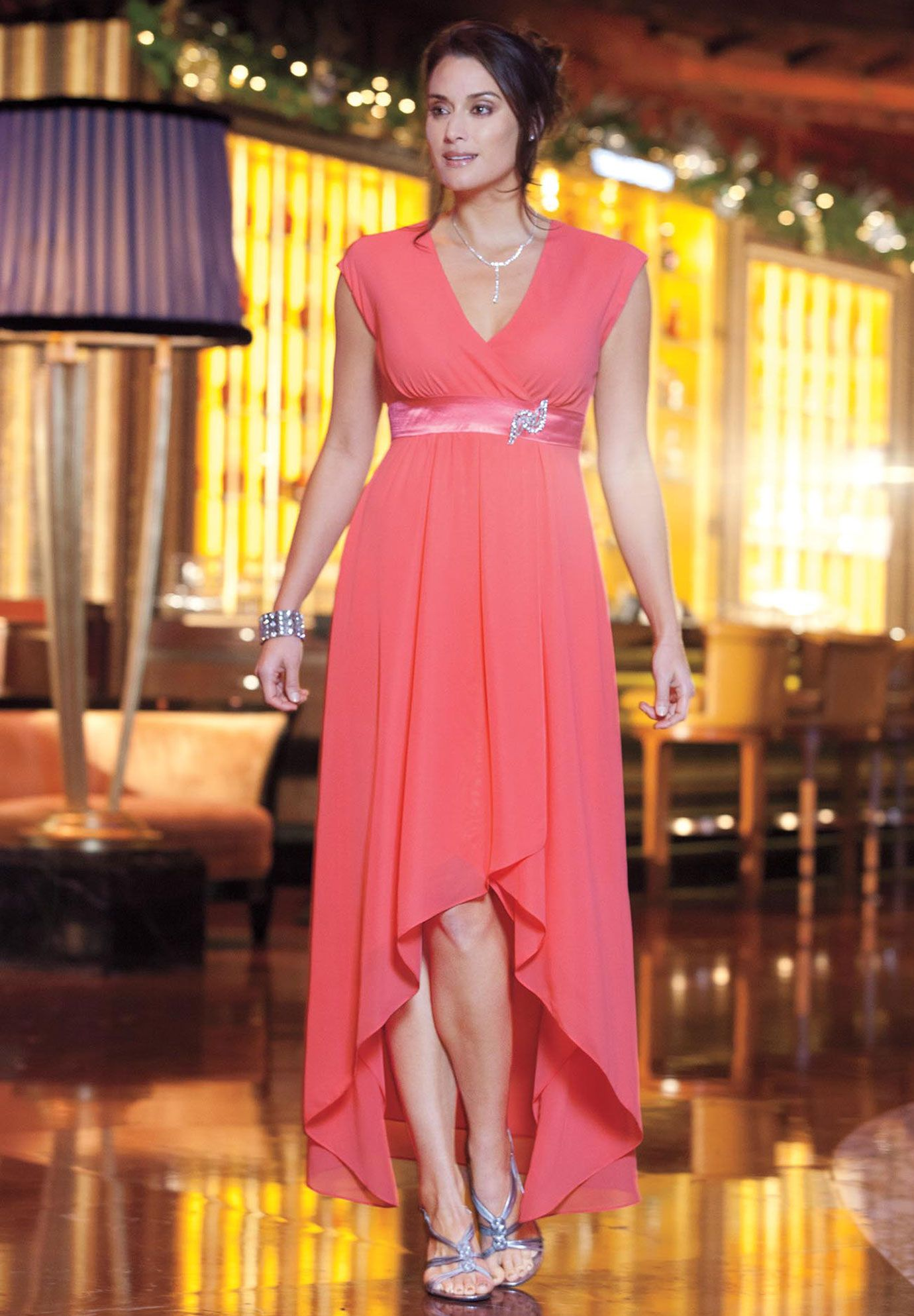 Plus size coral dress for wedding  Plus Size High Low Dress  Plus Size Cocktail Dresses  Jessica