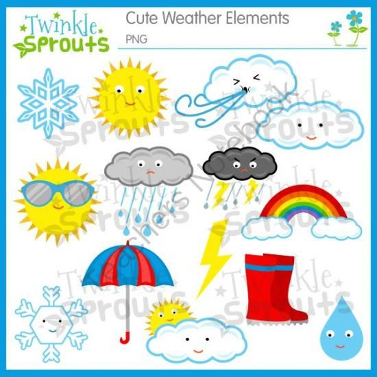 cute weather set from twinkle sprouts on teachersnotebook com 14 rh pinterest com Clipart For Students Clipart Of Students