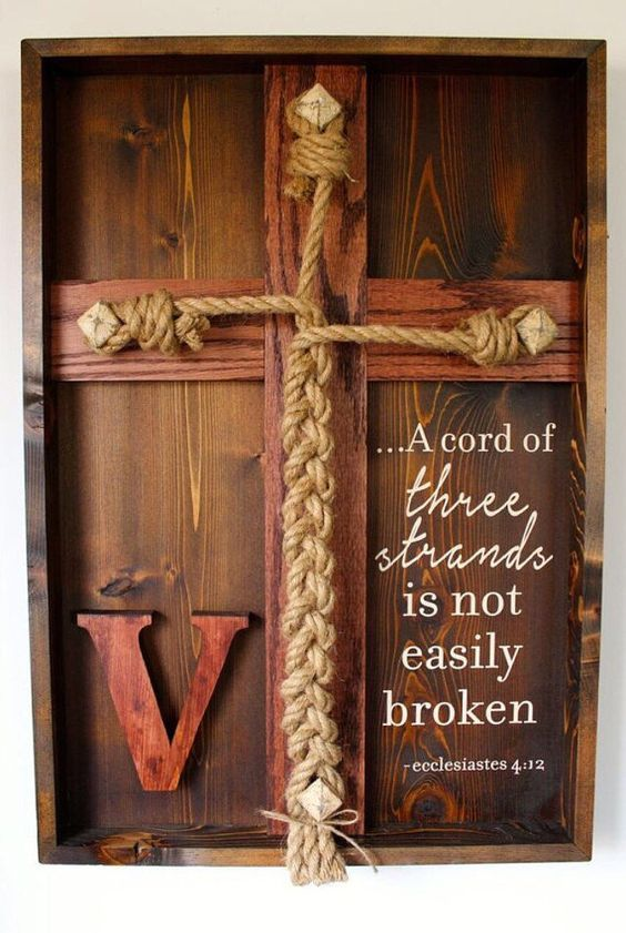 Wedding Unity Ceremony Braid W Ecclesiastes 4 12 Scripture Pinterest Deep Shadow Box And Red Oak