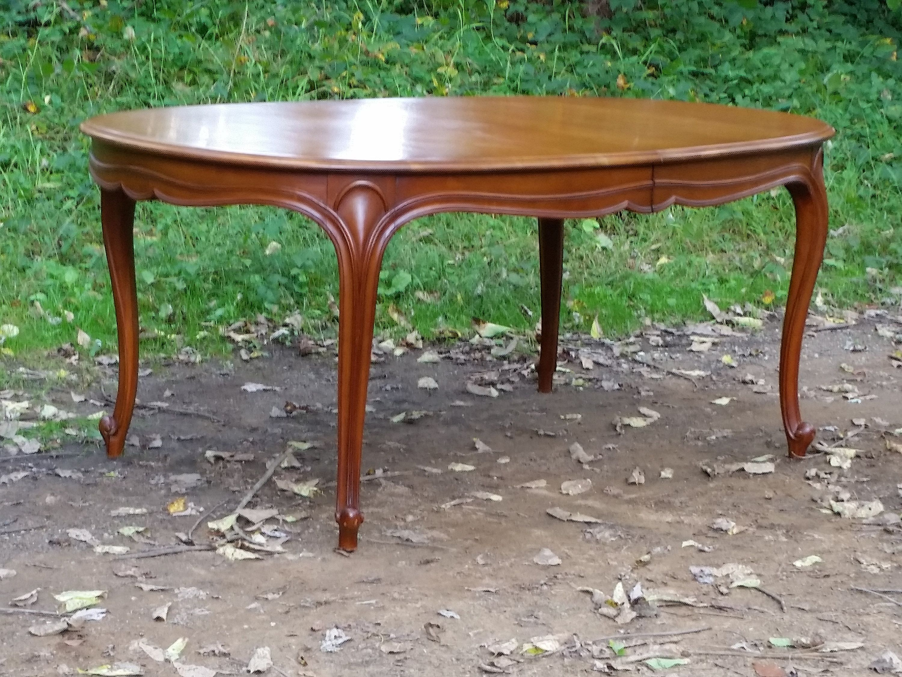 Drexel Touraine Long Dining Table With 3x Leaves French Provincial